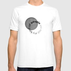 people are not my kind of White Mens Fitted Tee SMALL