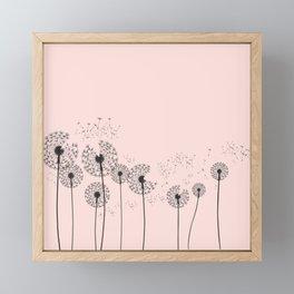 Contemporary Dandelion Drawing Framed Mini Art Print