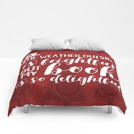 The Weather Outside is Frightful (Red) Comforters