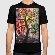 Tree of Wishes Mens Fitted Tee Black MEDIUM