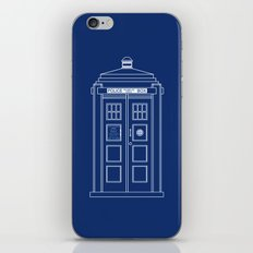 TARDIS Blueprint - Doctor Who iPhone & iPod Skin