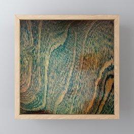 Old wood flooring Framed Mini Art Print