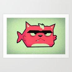 Cat-Fish Art Print