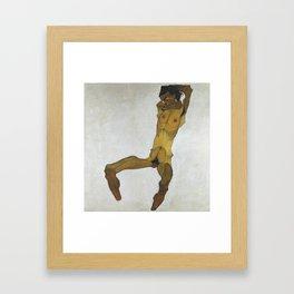 Seated Male Nude by Egon Schiele Framed Art Print