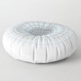 Grayish Blue Geometric Mandala Floor Pillow