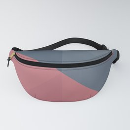 Blue and pink geometry Fanny Pack
