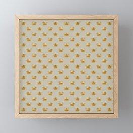 Mini George Grey with Gold Crowns Framed Mini Art Print