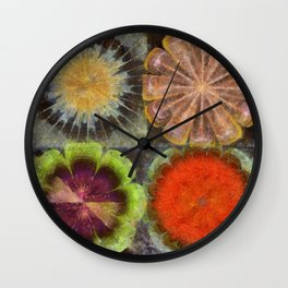 Uniteable Formation Flower  ID:16165-084538-89880 Wall Clock
