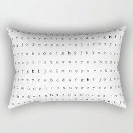 Alphabet Typewriter Pattern | Black and White Rectangular Pillow