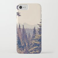 light iPhone & iPod Cases featuring Mountains through the Trees by Kurt Rahn
