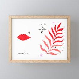Chanson d'Amour Framed Mini Art Print