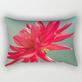 Red Imperfect Flower Rectangular Pillow
