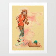 Tangled Trouble Art Print