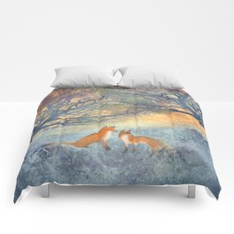 The Two Foxes Comforters