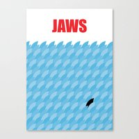 jaws Canvas Prints featuring JAWS by commonista