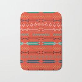 Navajo motifs in red Bath Mat