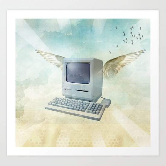 flying Mac Art Print