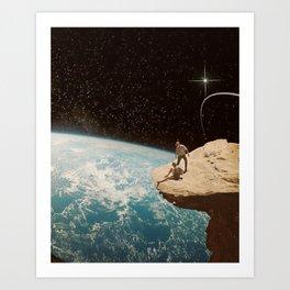 Edge of the world Art Print