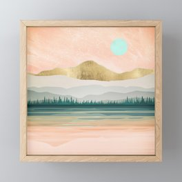 Spring Forest Lake Framed Mini Art Print