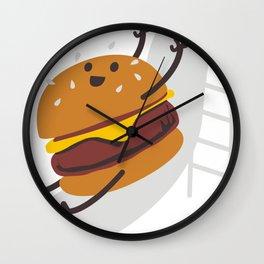 Slider Burger Wall Clock