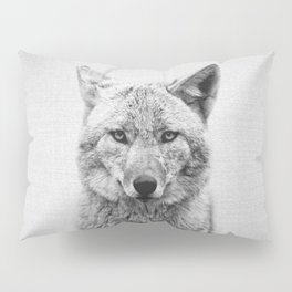 Coyote - Black & White Pillow Sham