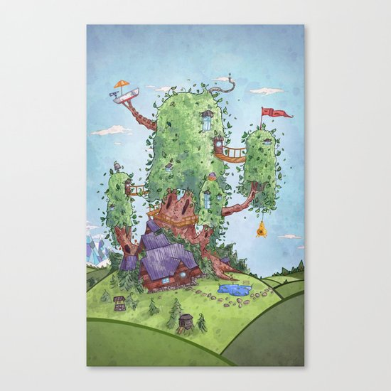 Ode to Finn and Jake Canvas Print
