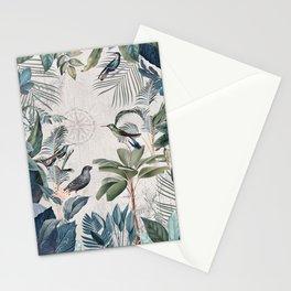 Tropical Birds Paradise Vintage Botanical Illustration Stationery Cards