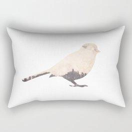 pink sky bird with trees Rectangular Pillow