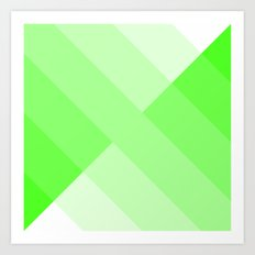 green and white gradient 3 Art Print