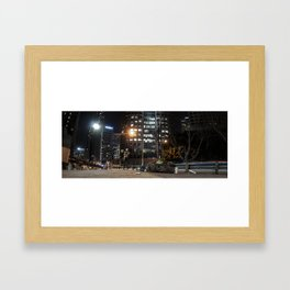 homeless on 6th Framed Art Print