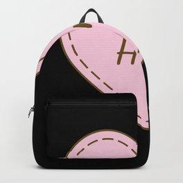 I Love Ham Simple Heart Design Backpack