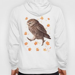 Autumn owl with leaves Hoody