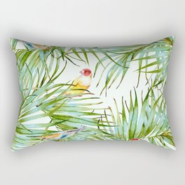 Birds on the leaves of the jungle Rectangular Pillow