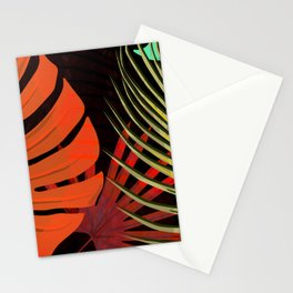 TROPICAL LEAVES & BLACK no2 Stationery Cards