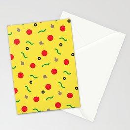 Postmodern Pizza Slice Stationery Cards