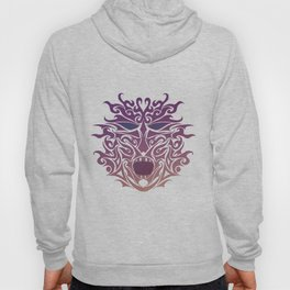 Purple Tribal Mask Tattoo Hoody
