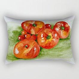 Garden Tomatoes Rectangular Pillow