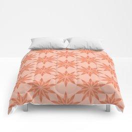 Coral gradient stars pattern Comforters