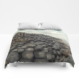 Giant's causeway  at dawn Comforters