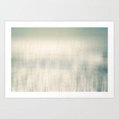 Sea Water and Sun Light Abstract Art Print