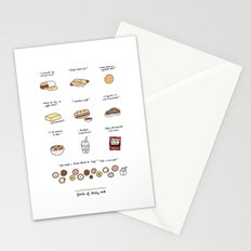 Foods of 30 Rock Stationery Cards