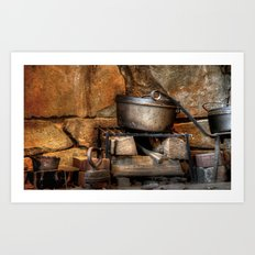Old Cook Stove Art Print