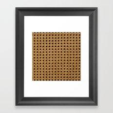Basket Weave Texture (3) Framed Art Print