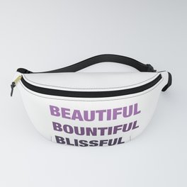 Daily mantra in purple Fanny Pack