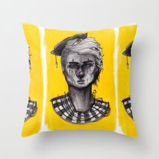 Seen in Yellow Throw Pillow