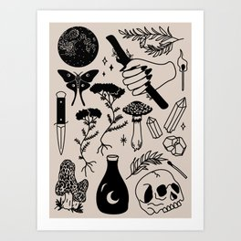 Forest Spells Art Print