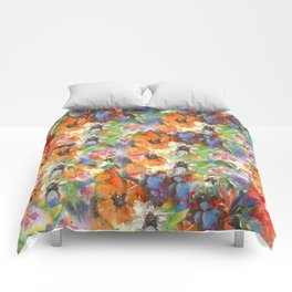 Poppies and Wildflower Impressions Comforters