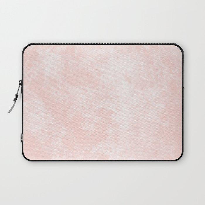 Blush Pink Coral Marble Laptop Sleeve