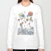 art Long Sleeve T-shirts featuring Voyages over Edinburgh by David Fleck