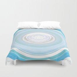 Ebb and Flow - Aqua Duvet Cover